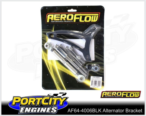 Aeroflow Alloy Alternator Bracket Ford V8 289 302 Windsor Drivers Side AF64-4006BLK