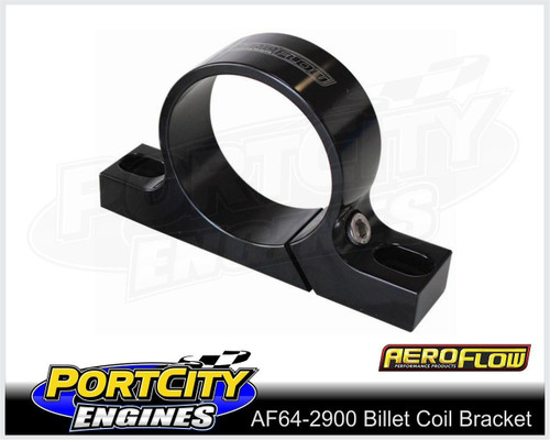Aeroflow Alloy Ignition Coil Mount Bracket suits standard 55mm Coils AF64-2900BLK