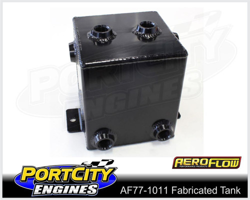 "Aeroflow Alloy Universal Fabricated Surge Breather Tank 2.2L 6"" High AF77-1011BLK"