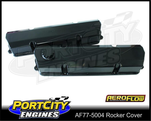 Aeroflow Alloy Fabricated Rocker Covers Holden V8 253 308 5.0L AF77-5004BLK