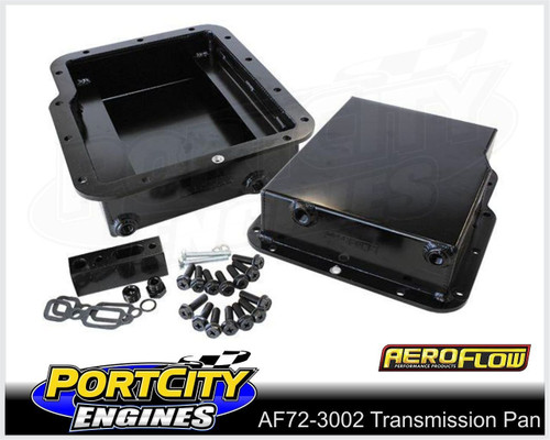 """Aeroflow Fabricated Alloy Transmission Pan Suit GM Powerglide 3"""" Deep AF72-3002BLK"""