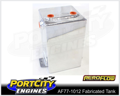 """Aeroflow Alloy Universal Fabricated Surge Breather Tank 3.1L 8.25"""" H AF77-1012"""