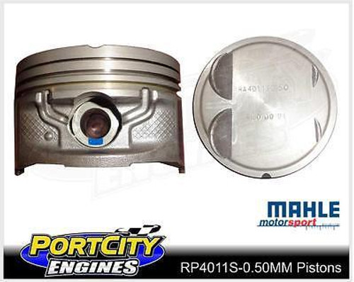 Mahle Dish Top Piston set for Ford 6cyl Falcon BA 4.0L DOHC LPG RP4011S-0.50mm