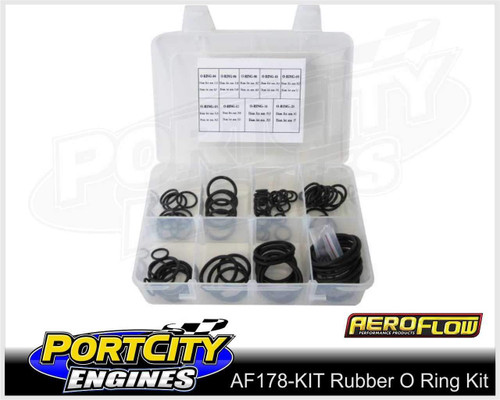 Aeroflow Viton Rubber O Ring Kit -3AN to -16AN AF178-KIT