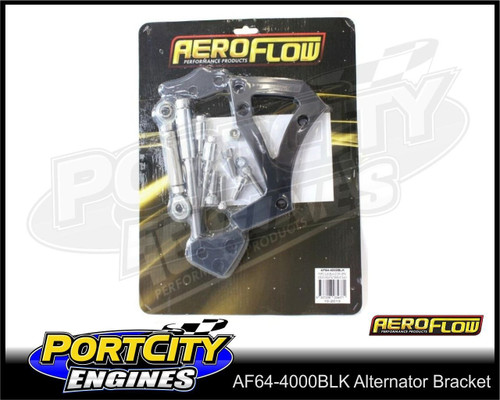 Aeroflow Alloy Alternator Bracket for Ford V8 302 351C mid Mount AF64-4000BLK