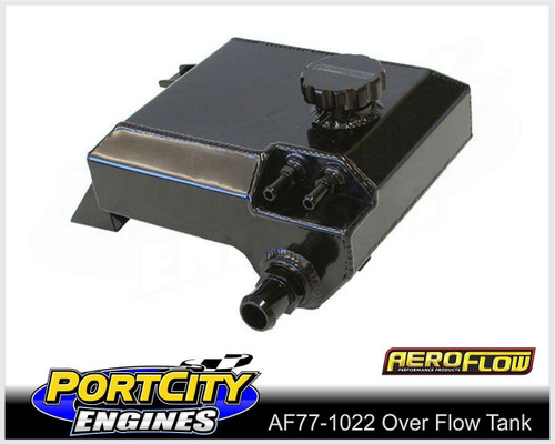 Aeroflow Alloy Fabricated Radiator Overflow Tank for Ford BA BF AF77-1022BLK