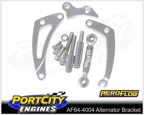 Aeroflow Alloy Alternator Bracket Chev V8 SB Low Mount Short Pump AF64-4004