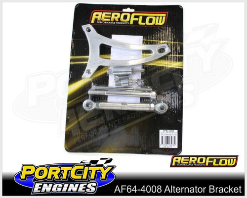 Aeroflow Alloy Alternator Bracket Ford V8 351 Windsor Drivers Side AF64-4008