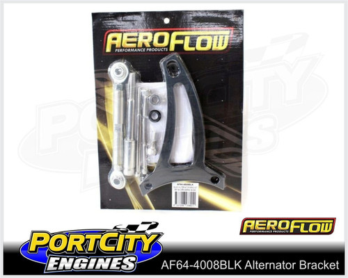 Aeroflow Alloy Alternator Bracket Ford V8 351 Windsor Drivers Side AF64-4008BLK