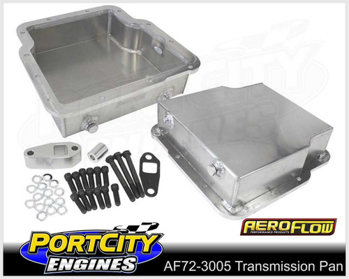 """Aeroflow Fabricated Alloy Transmission Pan Holden Trimatic 3.25"""" Deep AF72-3005"""