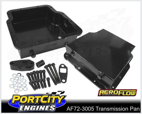"""Aeroflow Fabricated Alloy Transmission Pan Holden Trimatic 3.25"""" Deep AF72-3005BLK"""