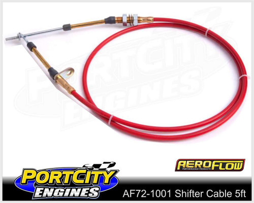 Aeroflow Shifter Cable 5ft suits most B & M shifters AF72-1001