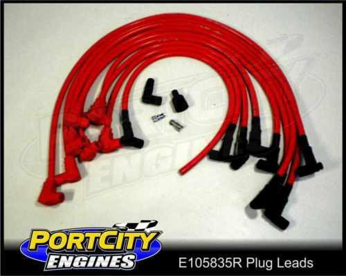 Eagle Spark Plug Leads 10.5mm SB Chev Post Or Socket Type RED Over R/C E105835R