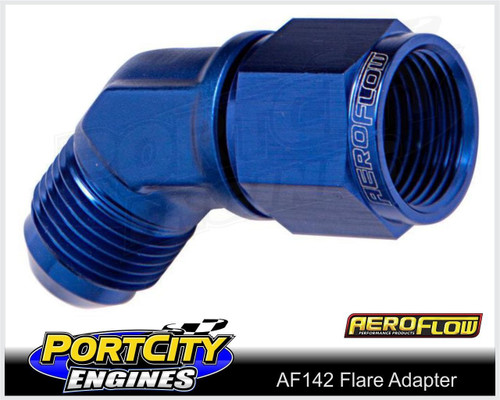 Aeroflow Alloy Female Male Flare Adapter 45° -6AN AF142-06