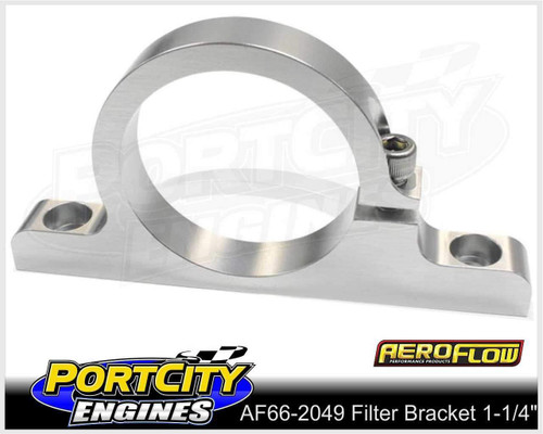 "Aeroflow Alloy Single Filter Bracket 1-1/4"" Filter Remote Reservoir AF66-2049"