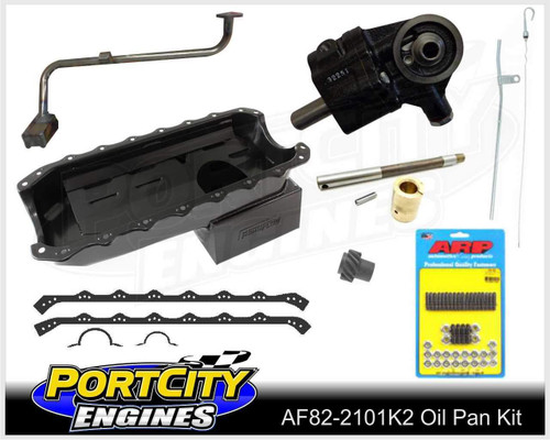 Aeroflow Super 6.5L Oil Pan & ARP oil pan stud Kit with High Volume Oil Pump -Suits Holden V8 253 308 AF82-2101K2