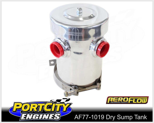 Aeroflow Alloy Dry Sump Breather Tank Polished Finish AF77-1019