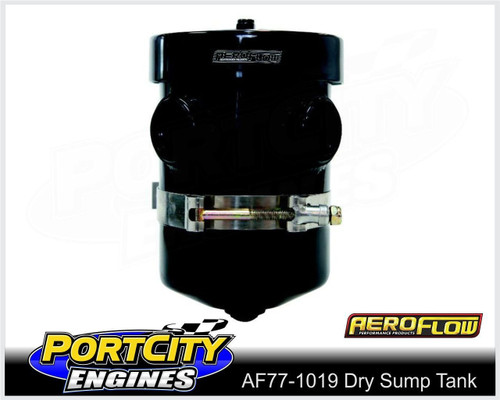 Aeroflow Alloy Dry Sump Breather Tank Polished Finish AF77-1019BLK