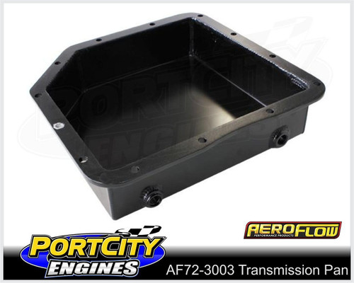 """Aeroflow Fabricated Alloy Transmission Pan Suit GM Turbo 350 3"""" Deep AF72-3003BLK"""