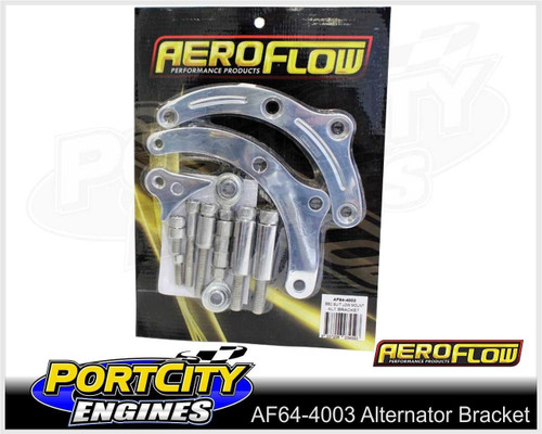 Aeroflow Alloy Alternator Bracket Chev V8 BB Low Mount Short Pump AF64-4003