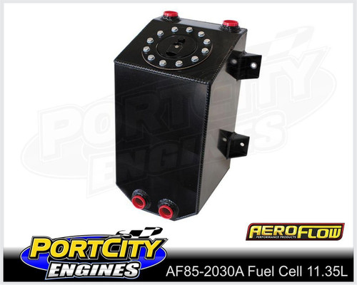 Aeroflow Alloy Fuel Cell 3 Gallon 11.35L with Cavity/Sump Fitted AF85-2030ABLK