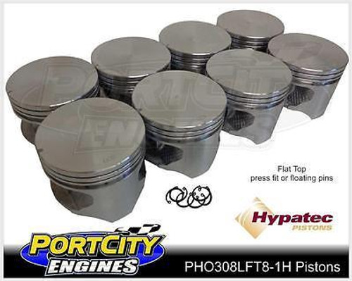 Hypatec Flat Top Piston set Holden V8 304 VN VP VR VS VT 5.0L PHO308LFT80001H