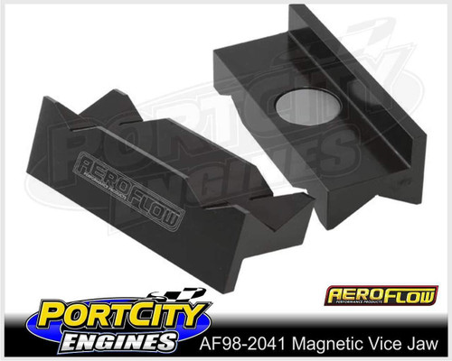 Aeroflow Alloy Magnetic Vice Jaws for -16 to -20 AN Fittings Black AF98-2041