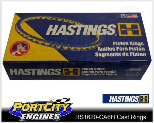 Hastings Cast Piston Ring Set Chrysler 6cyl Charger Valiant 265 HEMI RS1620