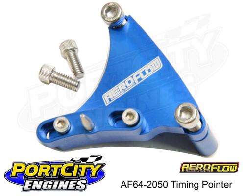 "Aeroflow Adjustable Timing Pointer 6-3/8"" for Chev V8 327 350 400 AF64-2050"
