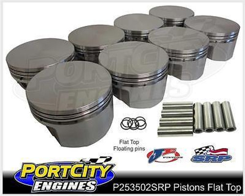 "Forged Alloy Flat Top Piston set for Holden V8 355 Stroker w/5.7"" Rod P253502SRP"