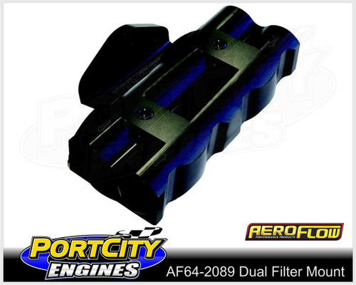 "Aeroflow Dual Billet Remote Oil Filter Head Side Entry 3/4"" – 16 AF64-2089"