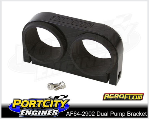 Aeroflow Alloy Dual Fuel Pump Bracket suits Aeroflow & Bosch Pumps AF64-2902BLK