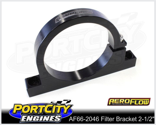 "Aeroflow Alloy Single Filter Bracket suit 2.5"" Filter Remote Reservoir AF66-2046BLK"