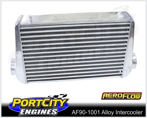 "Aeroflow Alloy Intercooler 450mm Long 300mm High 3"" inlet outlet ports AF90-1001"