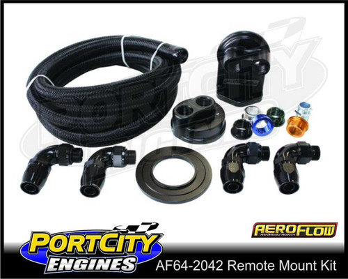 Aeroflow Billet Remote Oil Filter Relocation Kit AF64-2042