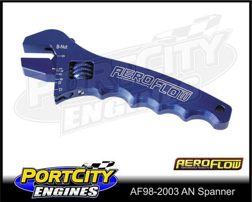 Aeroflow Alloy Adjustable Spanner -3AN to -12AN AF98-2003
