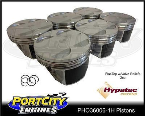 Hypatec Piston set for Holden V6 3.6L Alloytec Flat Top 2cc PHO360060001H