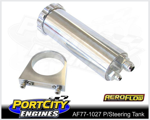Aeroflow Alloy Universal Power Steering Tank 440ml 15oz AF77-1027