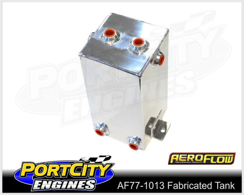 """Aeroflow Alloy Universal Fabricated Surge Breather Tank 4.0L 10.5"""" AF77-1013"""
