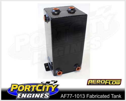"""Aeroflow Alloy Universal Fabricated Surge Breather Tank 4.0L 10.5"""" AF77-1013BLK"""