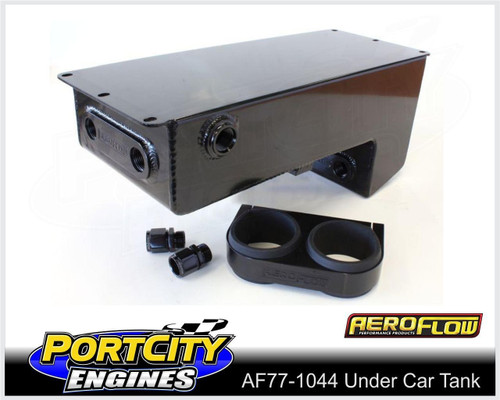 "Aeroflow Alloy Dual EFI Pump Under Car Surge Tank 4.75L 15"" AF77-1044BLK"