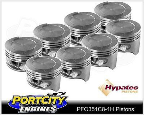 Hypatec Piston set Ford V8 Falcon Fairlane 302 351 Cleveland Dish Top PFO351C81H