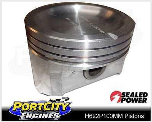 Sealed Power Dish Top Piston set for Holden V6 Commodore VR 3.8L .040 H622P100MM