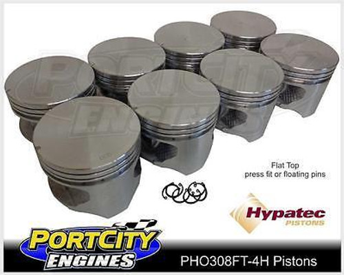 Hypatec Flat Top Piston set for Holden V8 308 Red Blue Black 5.0L PHO308FT80304H
