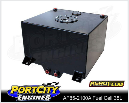 Aeroflow Alloy Fuel Cell 10 gallon 38L with Cavity/Sump Fitted AF85-2100ABLK