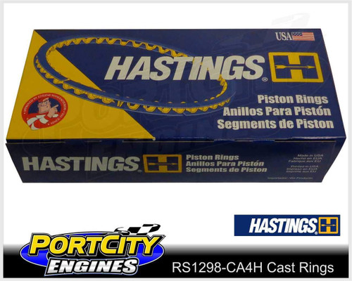 Hastings Cast Piston Ring Set Mitsubishi 4cyl Colt RC RE Sigma GE GK 4G32 RS1298