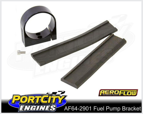 Aeroflow Alloy Single Fuel Pump Bracket suit Aeroflow & Bosch Pumps AF64-2901BLK