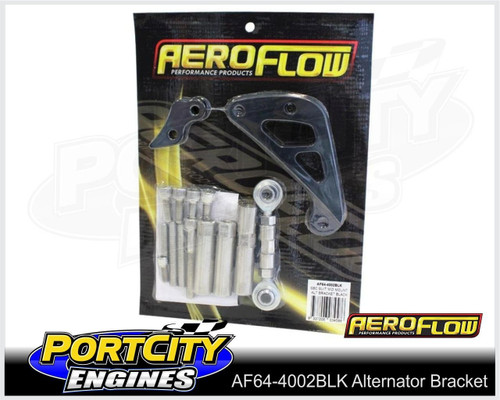 Aeroflow Alloy Alternator Bracket Chev V8 SB Mid Mount Long Water Pump AF64-4002BLK