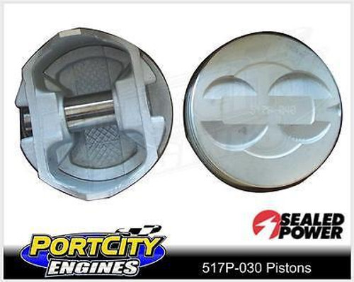 Sealed Power Dish Top Piston set for Ford V8 302 Windsor OHV 517P