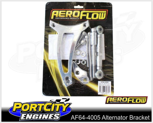 Aeroflow Alloy Alternator Bracket Ford V8 351 Windsor Passenger Side AF64-4005